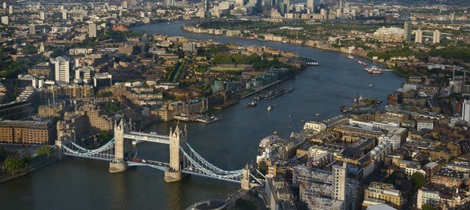 Londra vazuta de sus: The Shard sau London Eye?