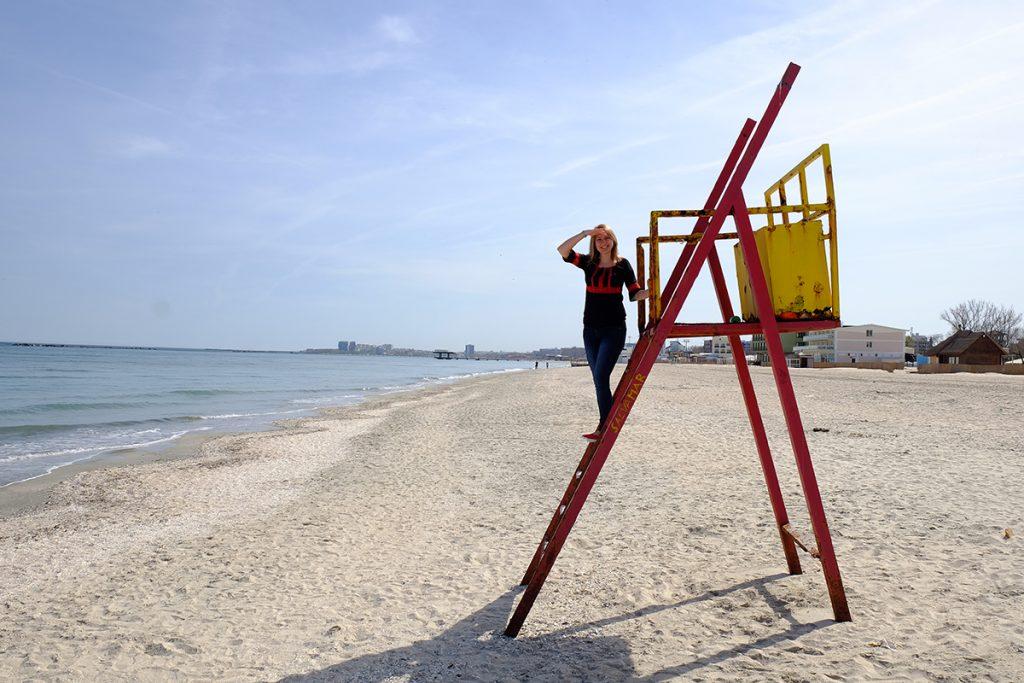 plaja mamaia in aprilie