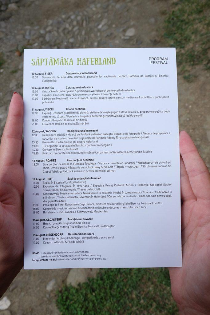 program festival haferland 2016