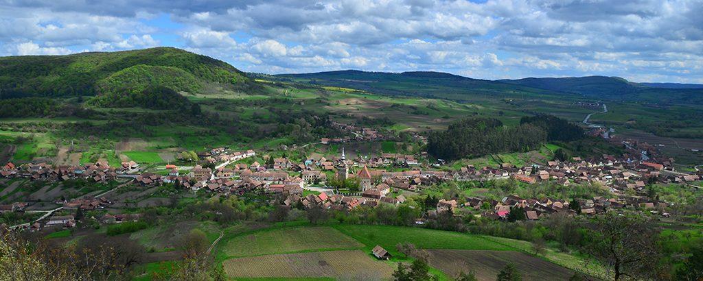 Panorama satului Saschiz vazuta de la Cetate