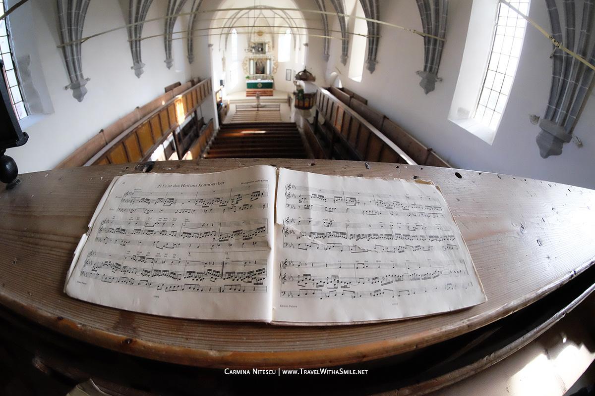 Balconul cu Orga din cadrul Bisericii din Saschiz