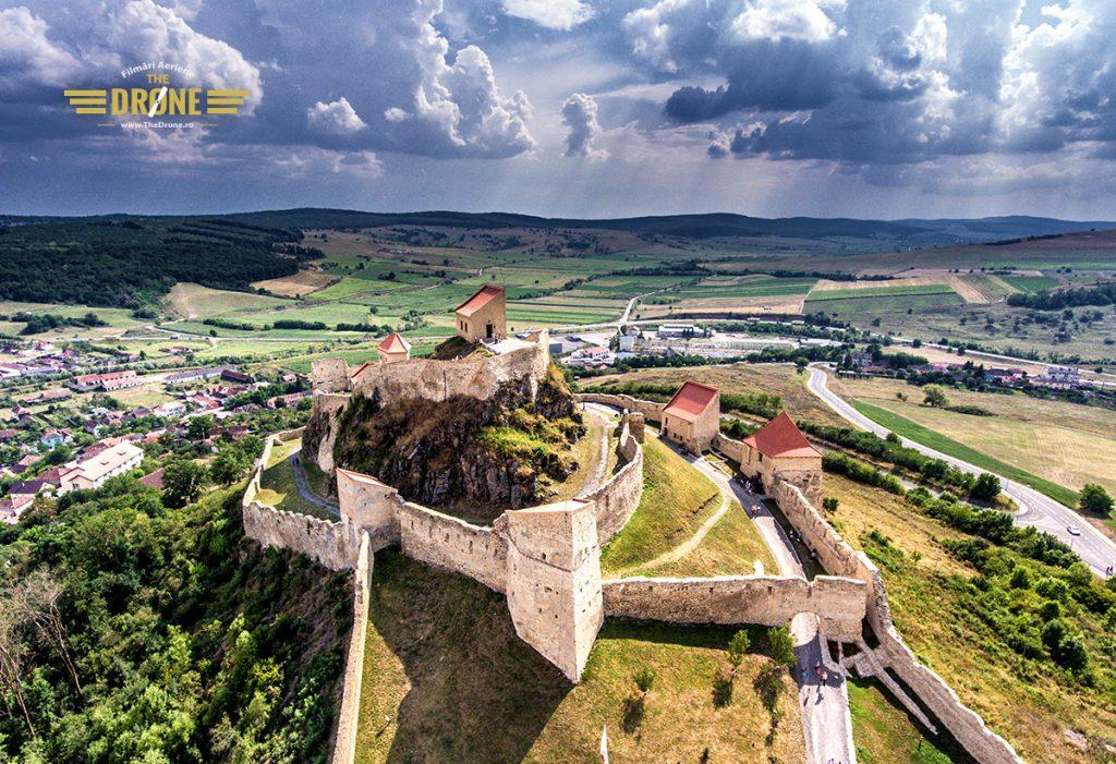 Cetatea Rupea. Imagine realizata de www.TheDrone.ro