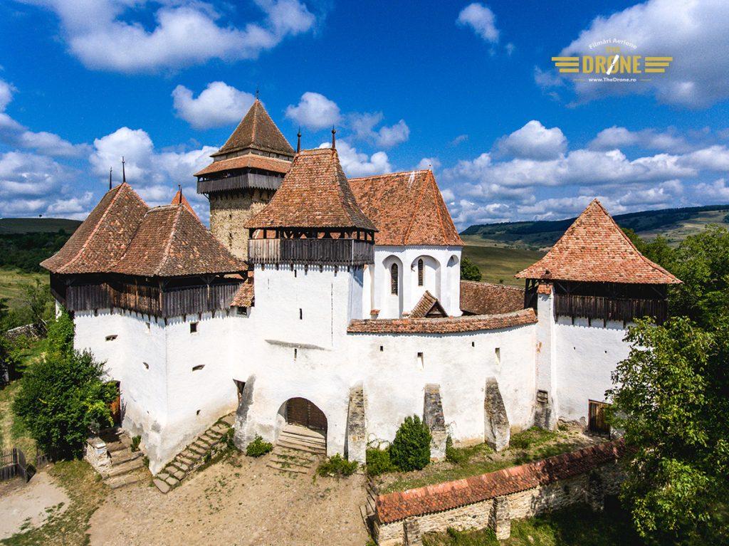 Biserica Fortificata Viscri. Fotografie realizata de www.TheDrone.ro