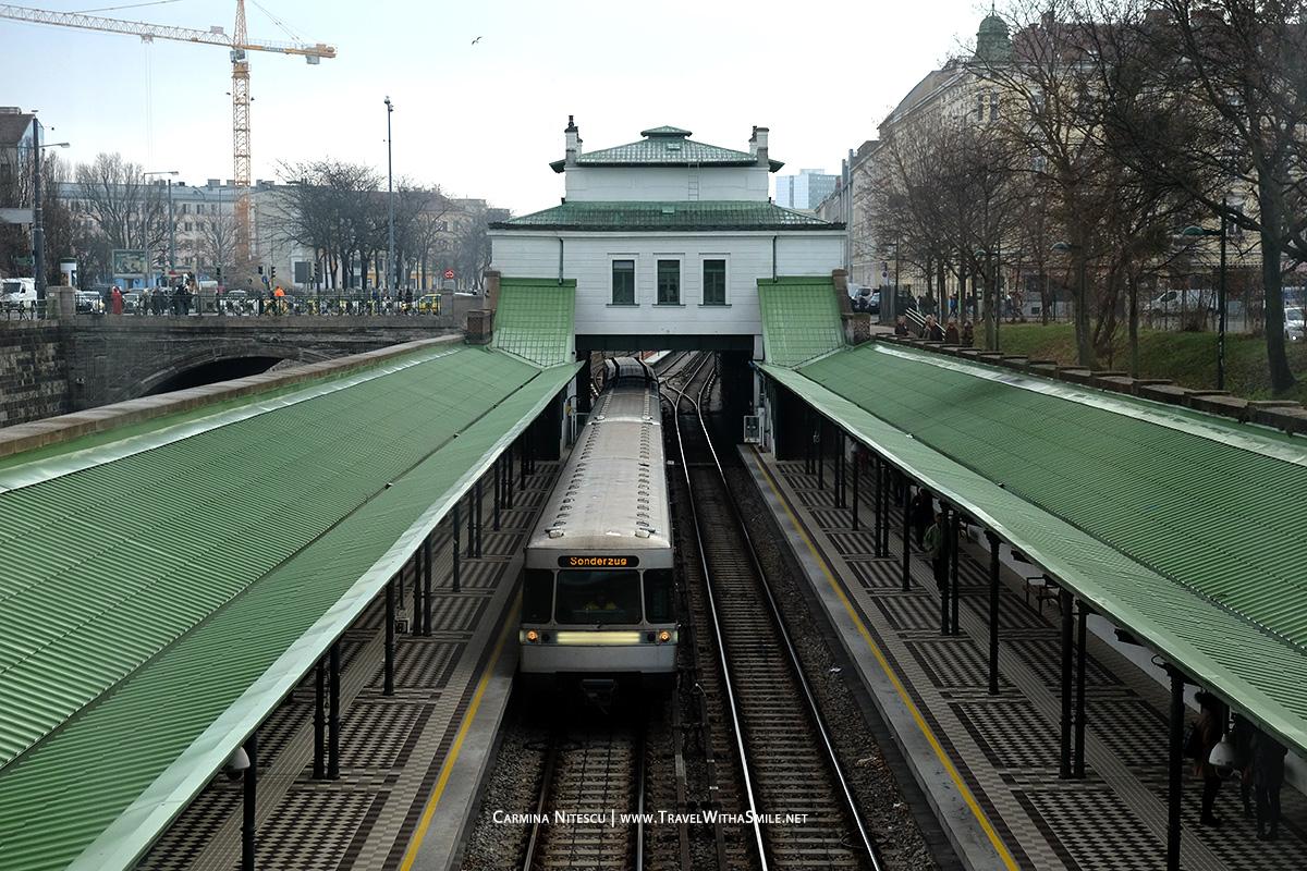 Linia U4 (verde) de metrou. Viena