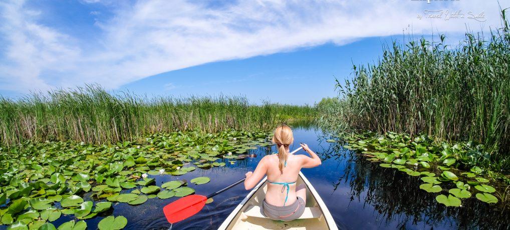 Delta Dunării văzută din canoe