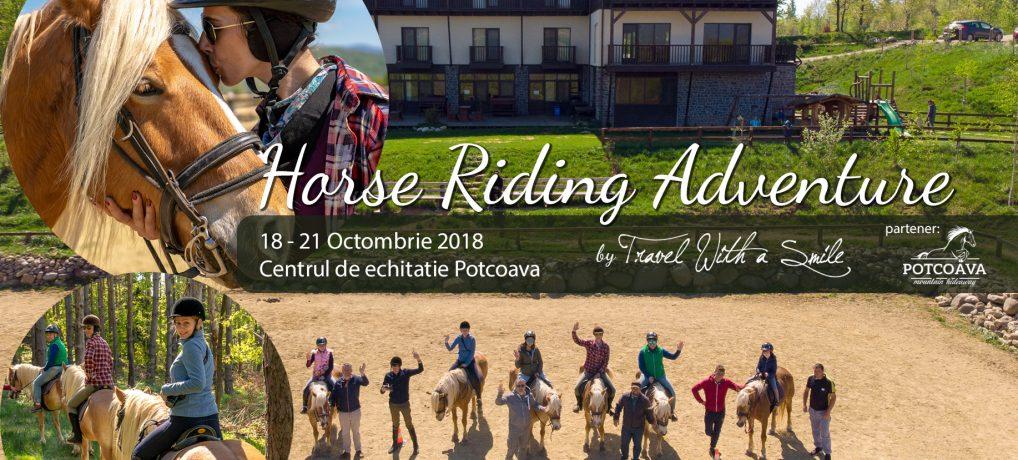 """Hai in tabara de echitatie """"Horse Riding Adventure"""" editia a doua: 18 – 21.10.2018"""